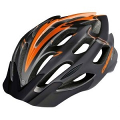 Шолом CARRERA MTB GRAVITY BLACK ORANGE SHINY 54-57см