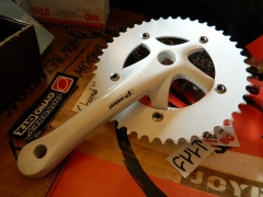 Шатуни Fixed Gear Solid 246T-1 46T white