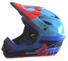 Шолом фул 661 Sixsixone COMP BOLT HELMET RED/BLUE